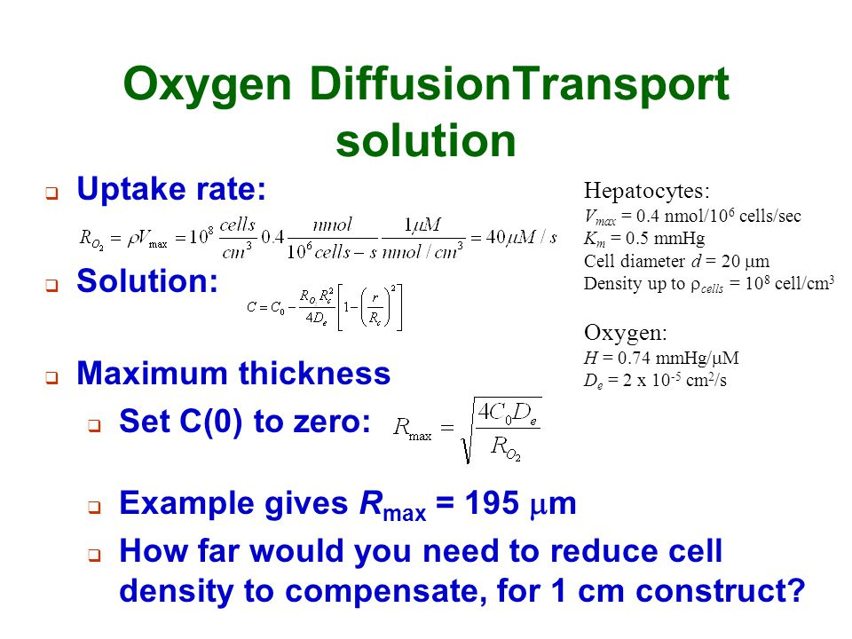 Oxygen DiffusionTransport solution
