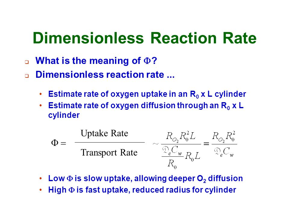 Dimensionless Reaction Rate