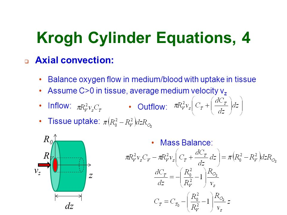 Krogh Cylinder Equations, 4