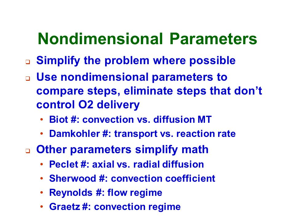 Nondimensional Parameters