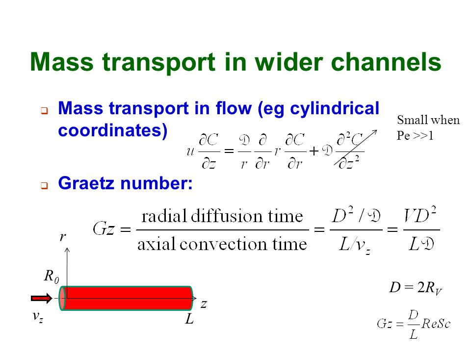 Mass transport in wider channels