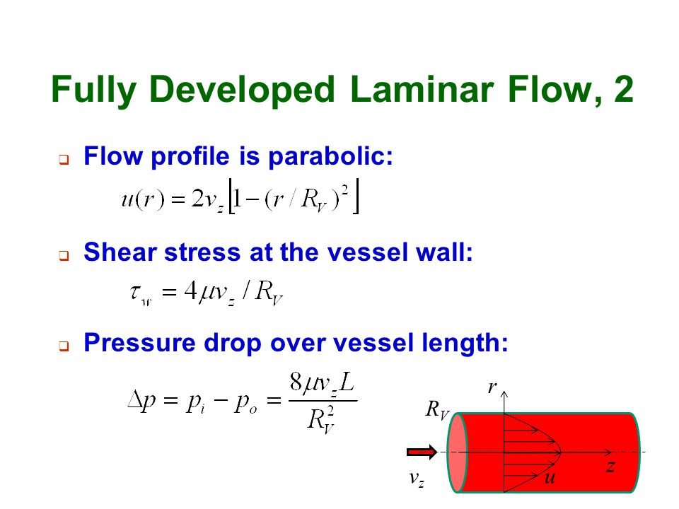 Fully Developed Laminar Flow, 2