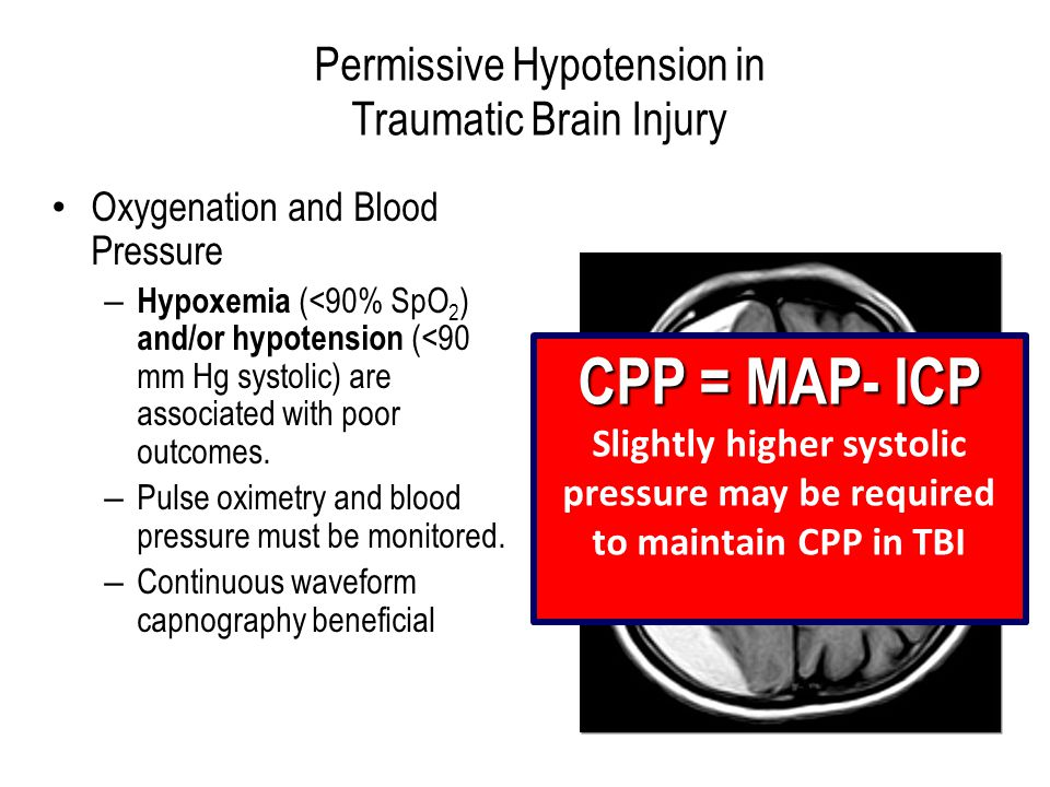 Permissive Hypotension in Traumatic Brain Injury