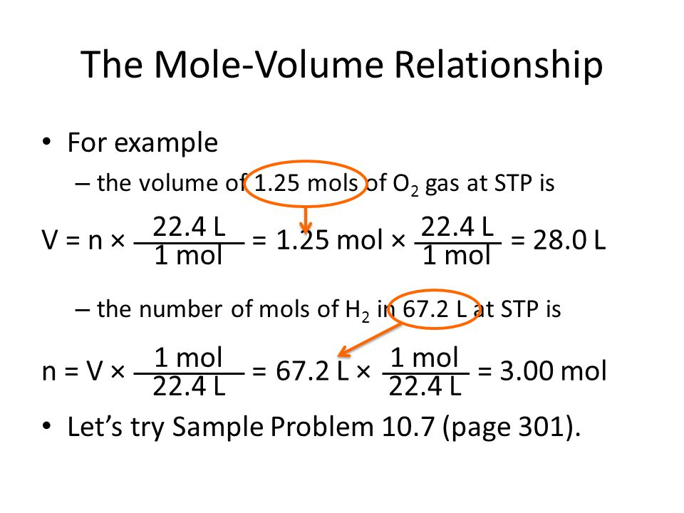 the volume of one mole of So volume h 2 = mol h 2 x molar volume = 175 x 24 = 42 dm 3 (or 42000 cm 3)- so mass co 2 = 0025 x 44 = 11g co 2 volume = moles x molar volume = 0025 x.