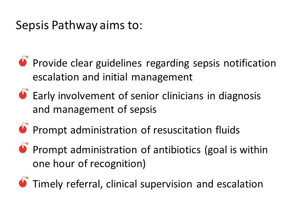 Sepsis Pathway aims to: