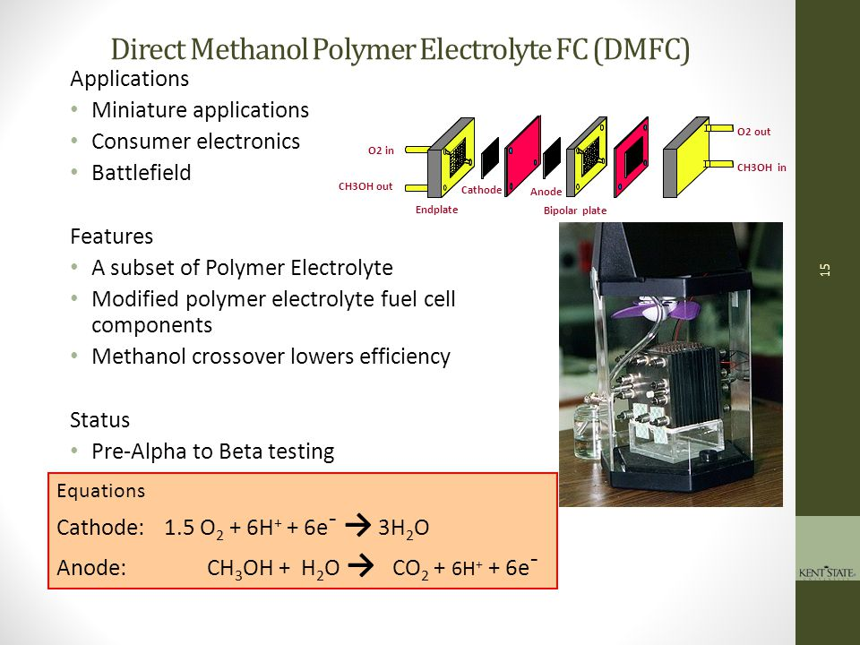 Direct Methanol Polymer Electrolyte FC (DMFC)