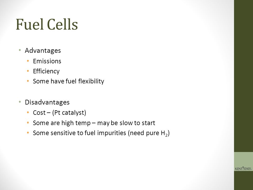 Fuel Cells Advantages Disadvantages Emissions Efficiency