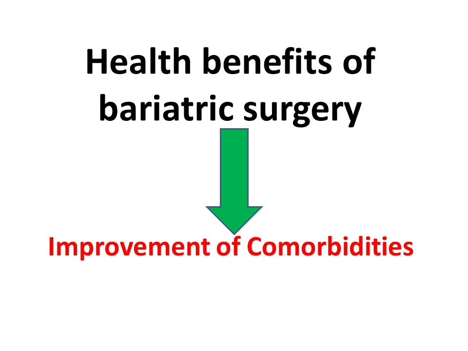 Health benefits of bariatric surgery