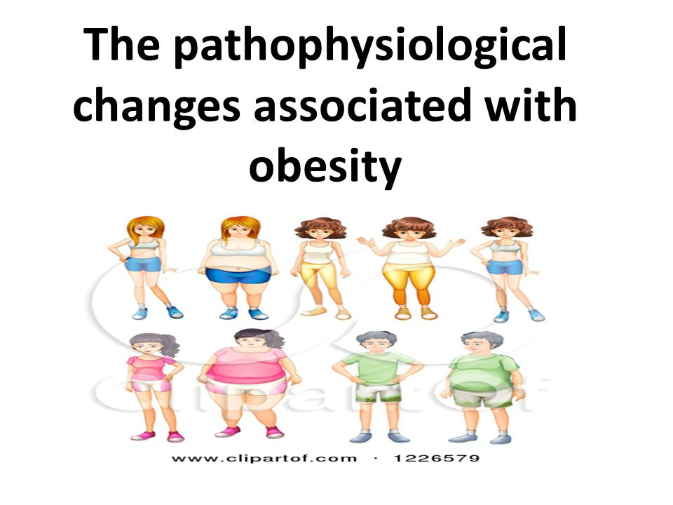 The pathophysiological changes associated with obesity