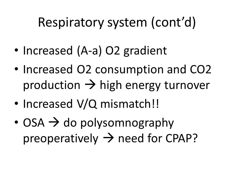 Respiratory system (cont'd)