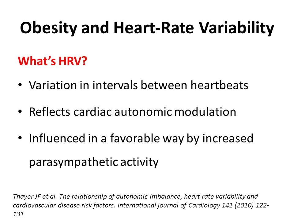 Obesity and Heart-Rate Variability