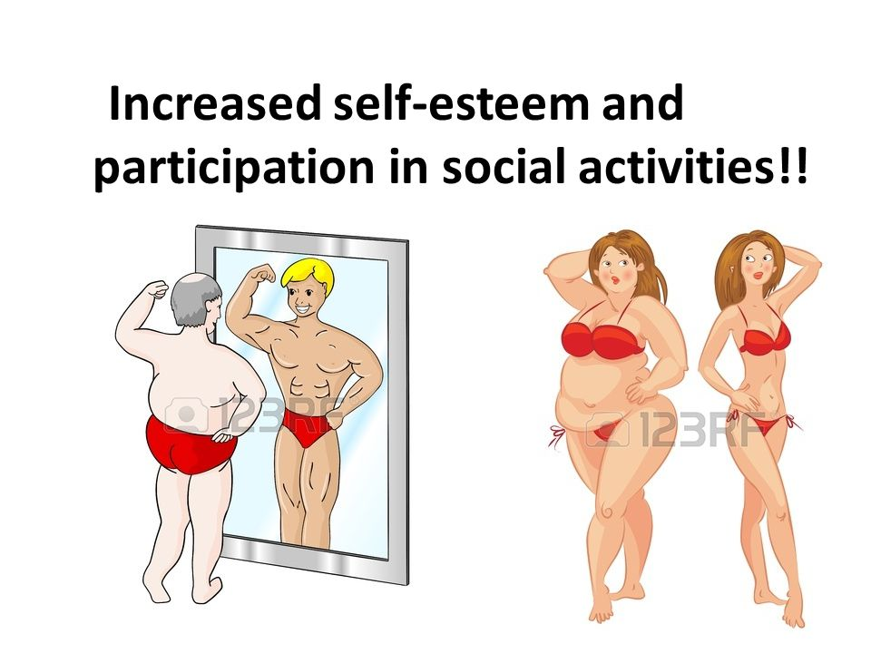 Increased self-esteem and participation in social activities!!