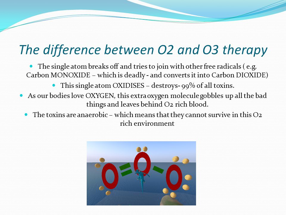 The difference between O2 and O3 therapy