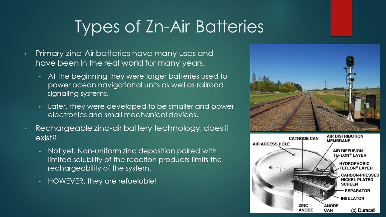 Types of Zn-Air Batteries