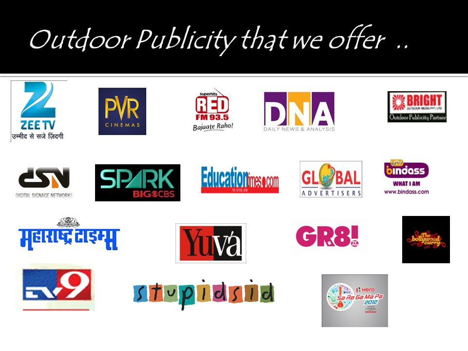 Outdoor Publicity that we offer ..