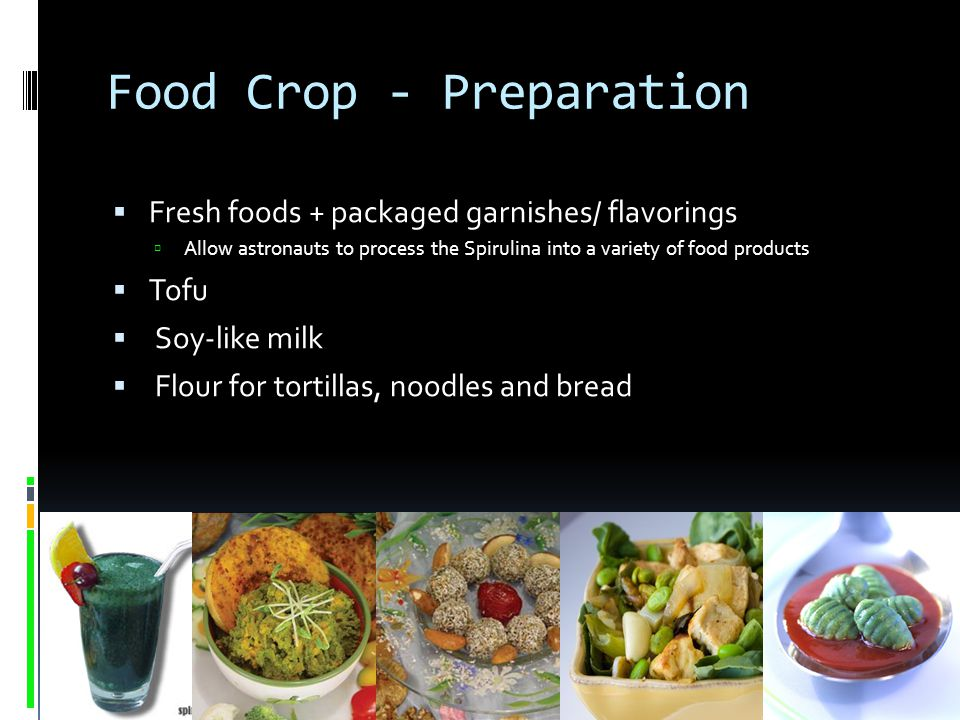 Food Crop - Preparation