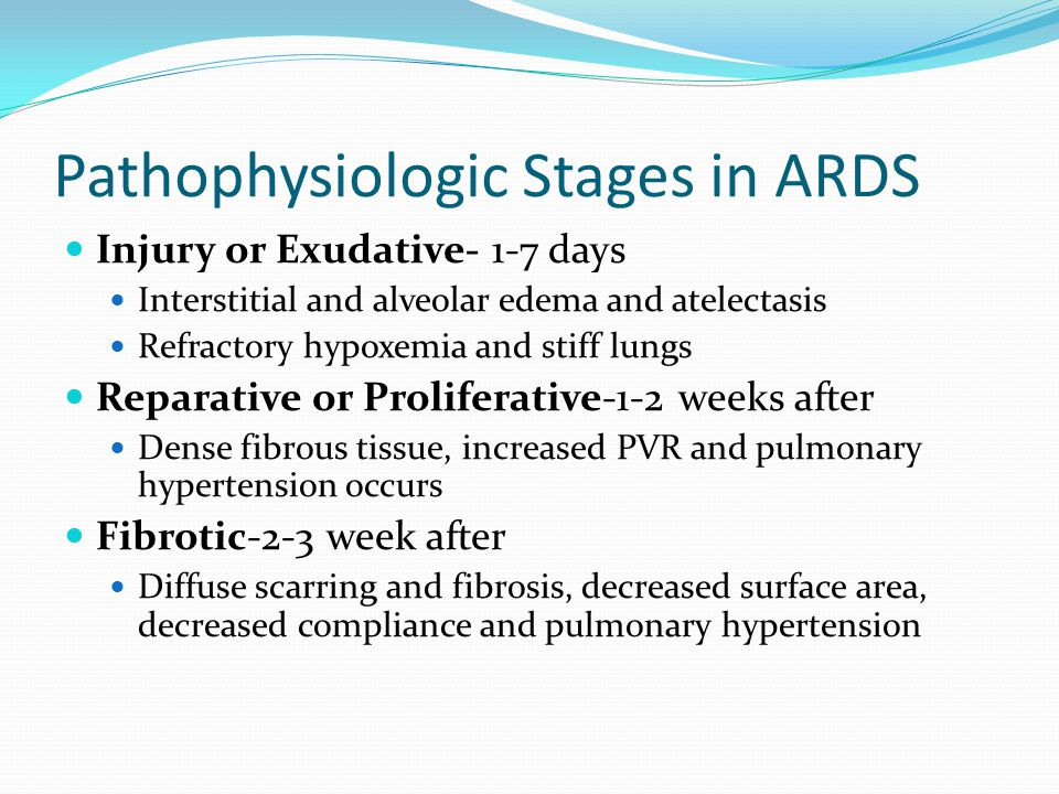 Pathophysiologic Stages in ARDS