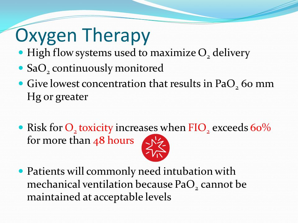 Oxygen Therapy High flow systems used to maximize O2 delivery