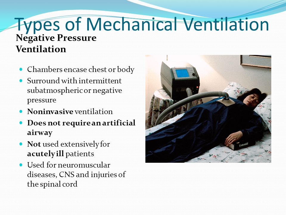Types of Mechanical Ventilation
