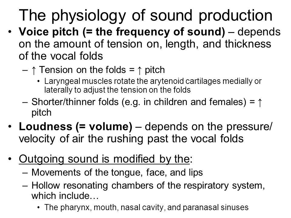 The physiology of sound production