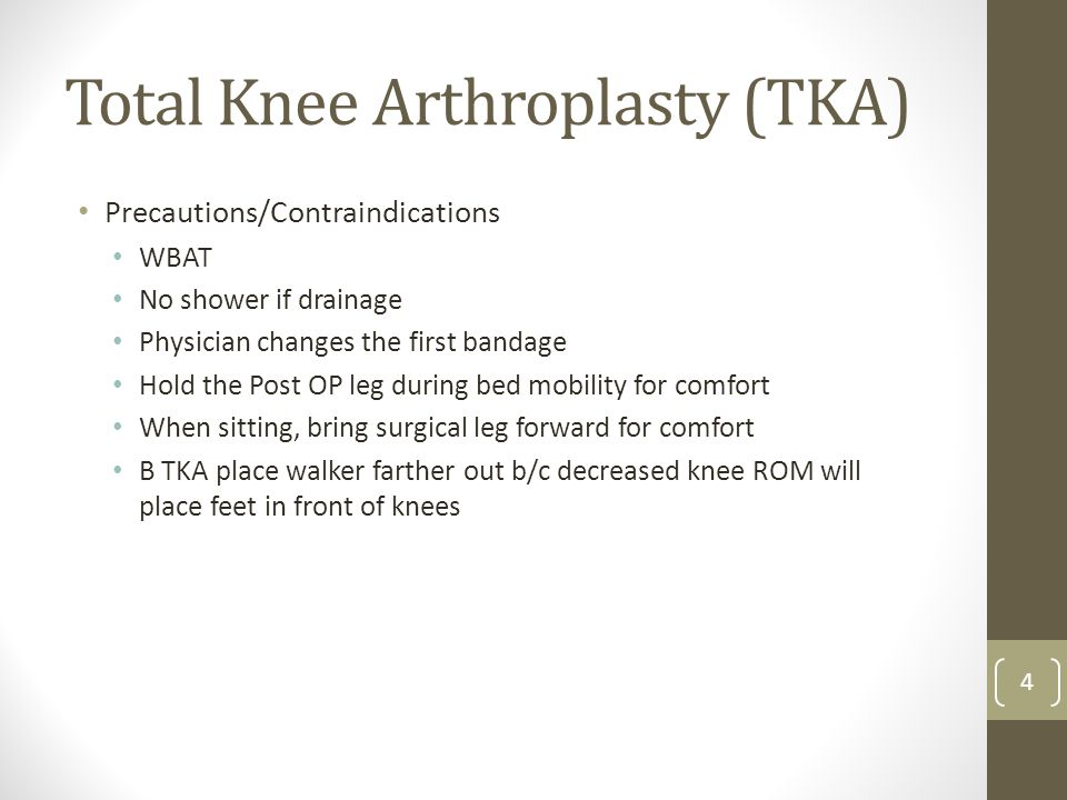 Total Knee Arthroplasty (TKA)