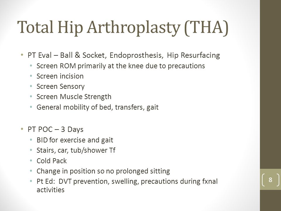 Total Hip Arthroplasty (THA)