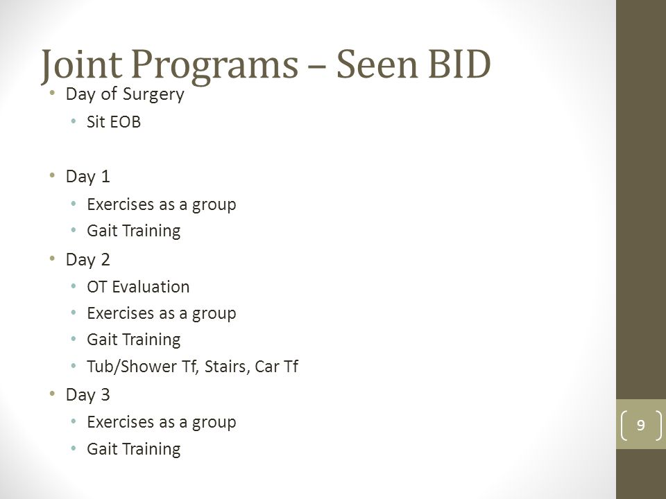 Joint Programs – Seen BID