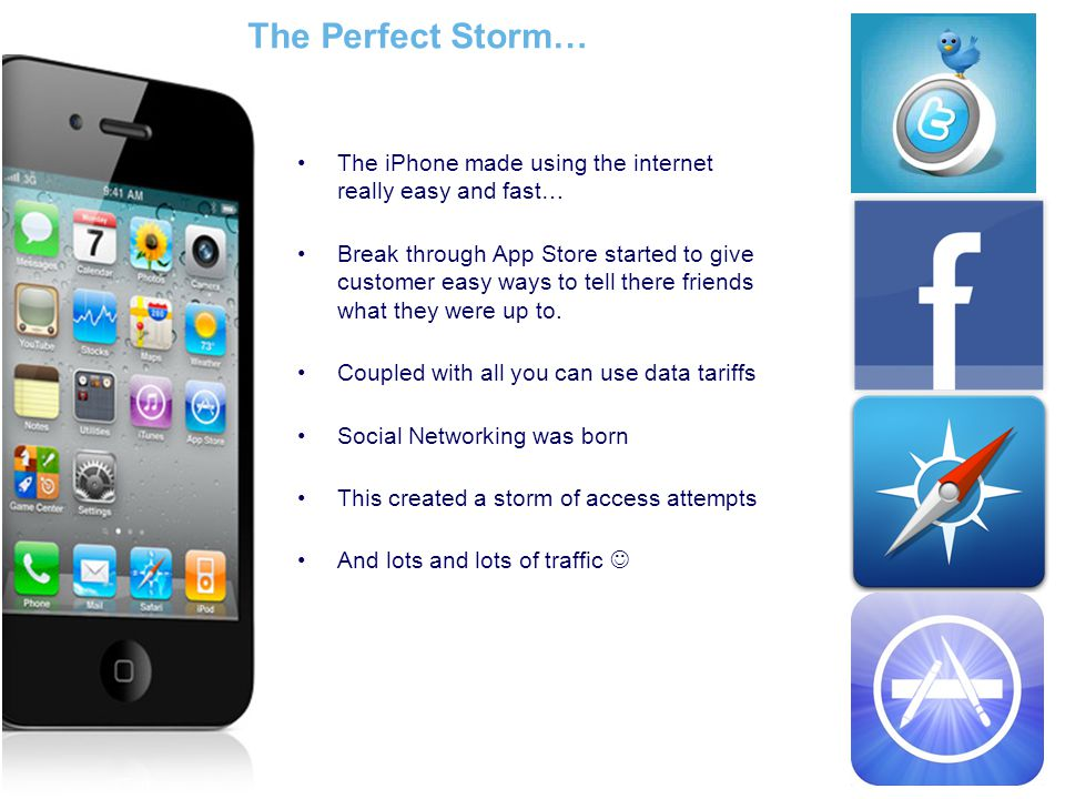 The Perfect Storm… The iPhone made using the internet really easy and fast…