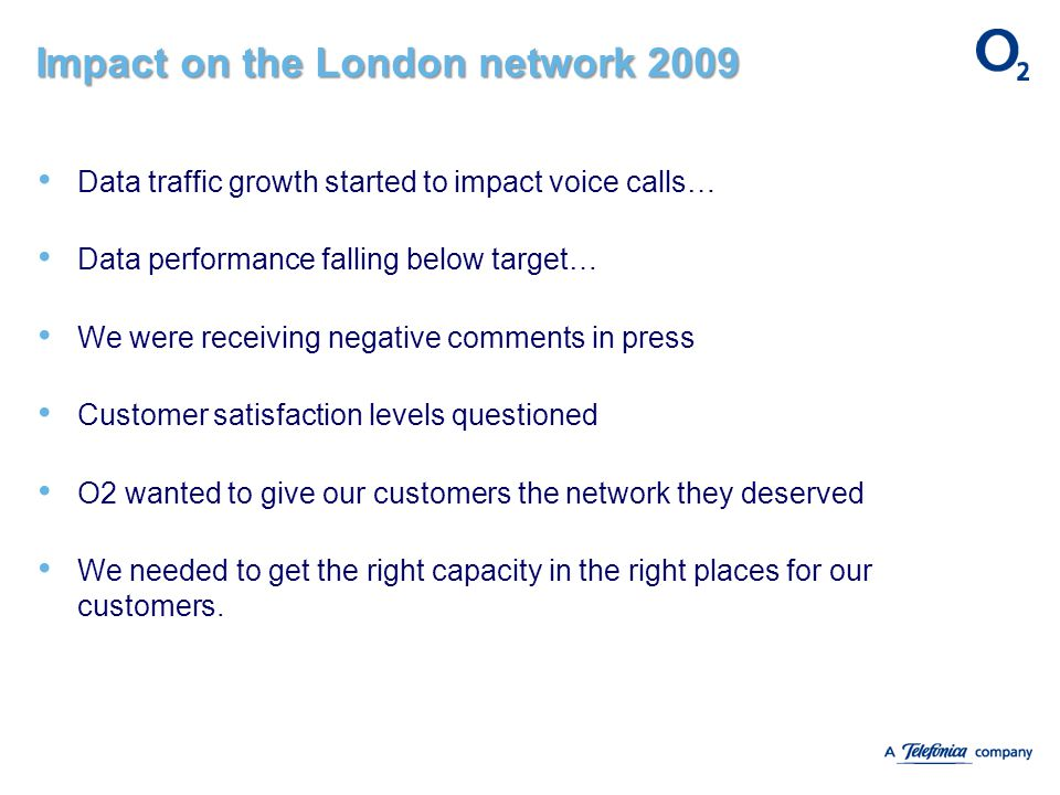 Impact on the London network 2009