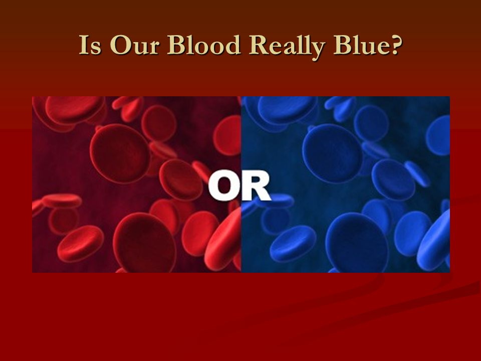 Is Our Blood Really Blue