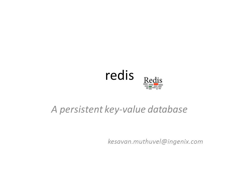 A persistent key-value database