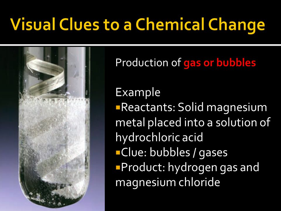 Visual Clues to a Chemical Change