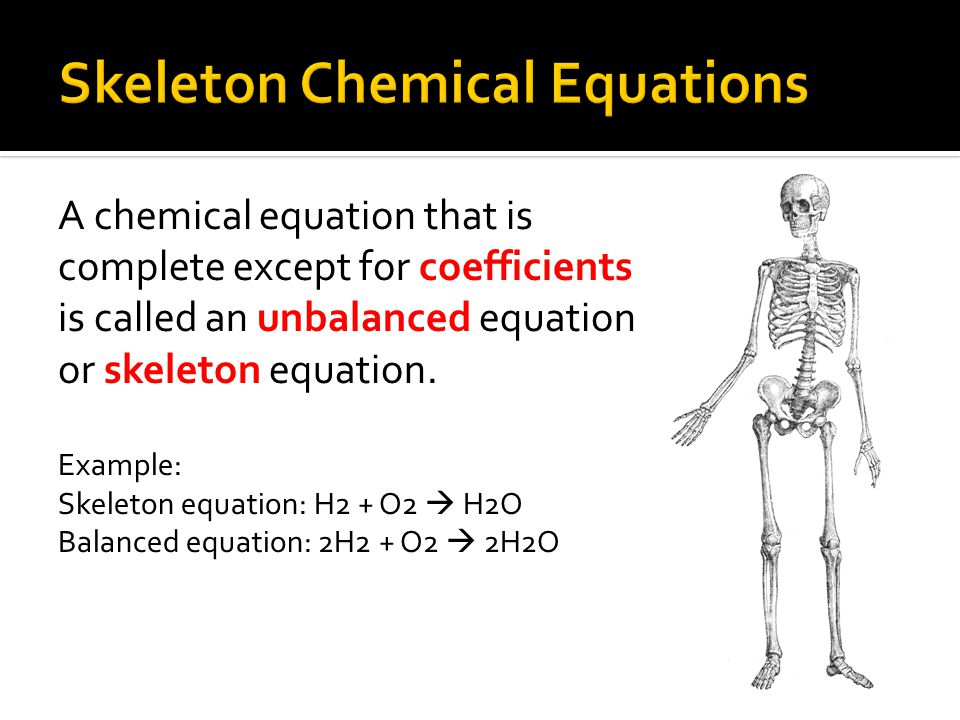 Skeleton Chemical Equations