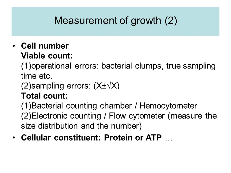 Measurement of growth (2)