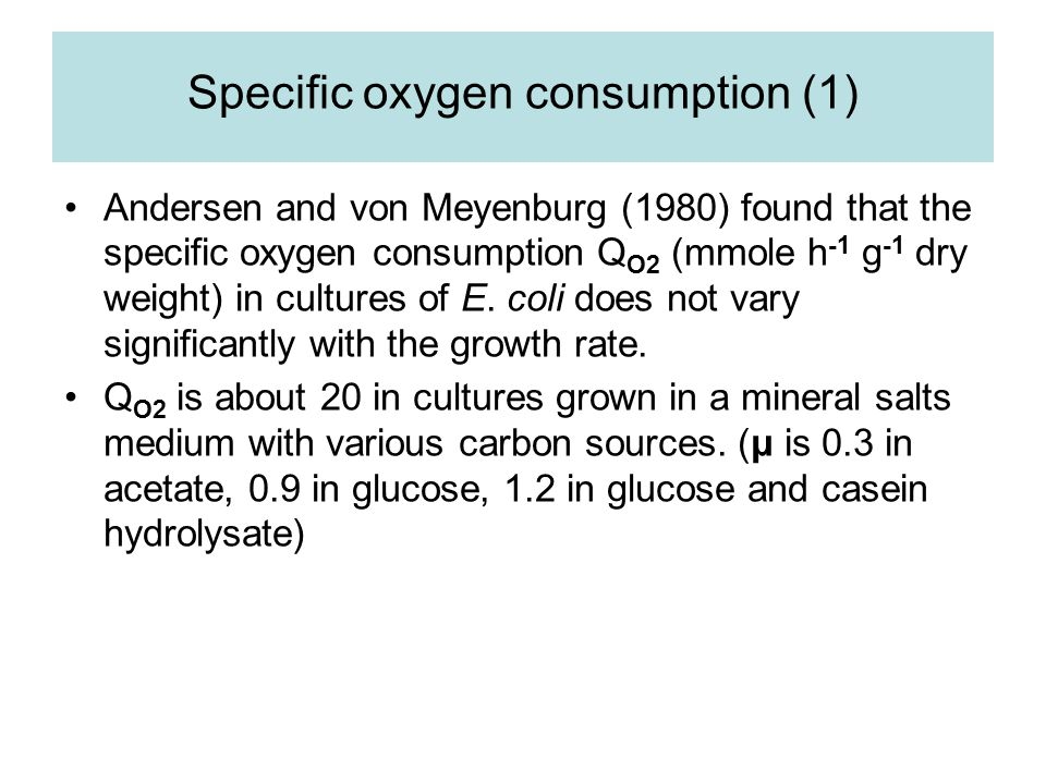 Specific oxygen consumption (1)