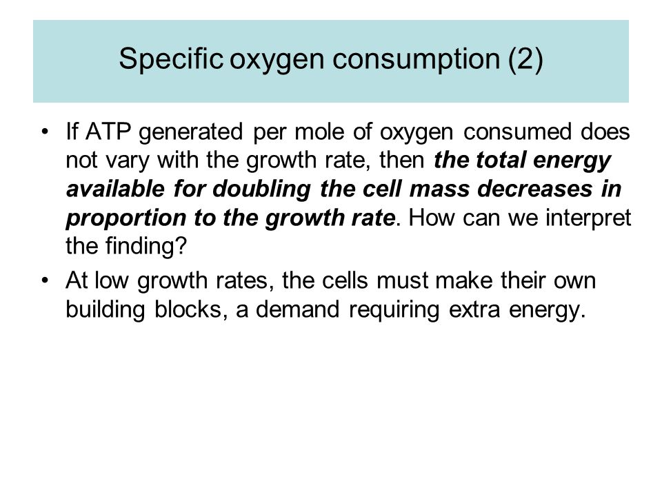 Specific oxygen consumption (2)