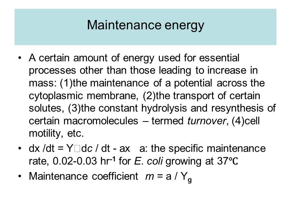 Maintenance energy