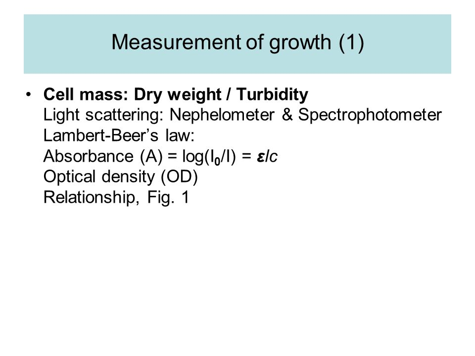 Measurement of growth (1)