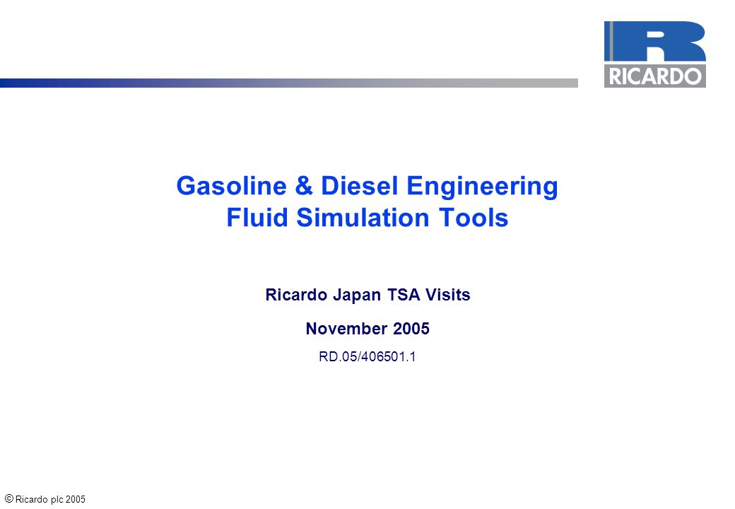 Gasoline & Diesel Engineering Fluid Simulation Tools