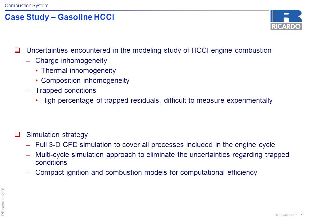 Case Study – Gasoline HCCI