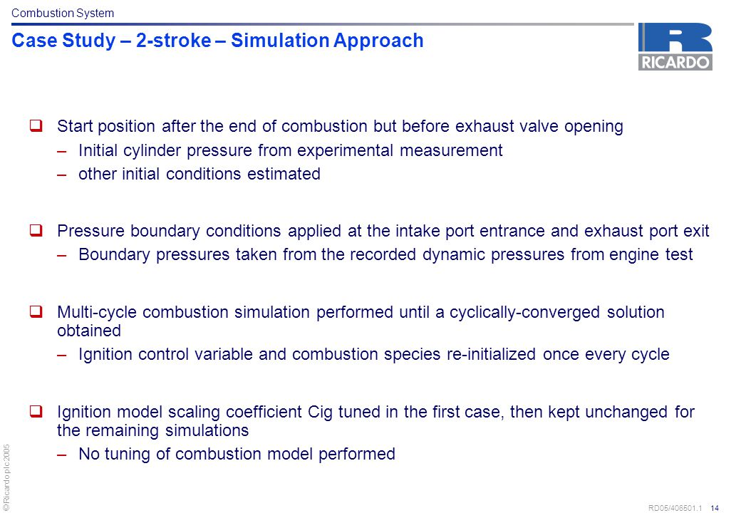 Case Study – 2-stroke – Simulation Approach