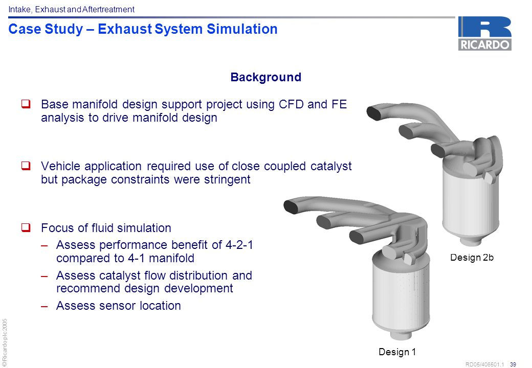 Case Study – Exhaust System Simulation