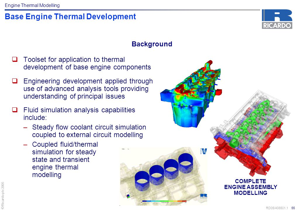 Base Engine Thermal Development