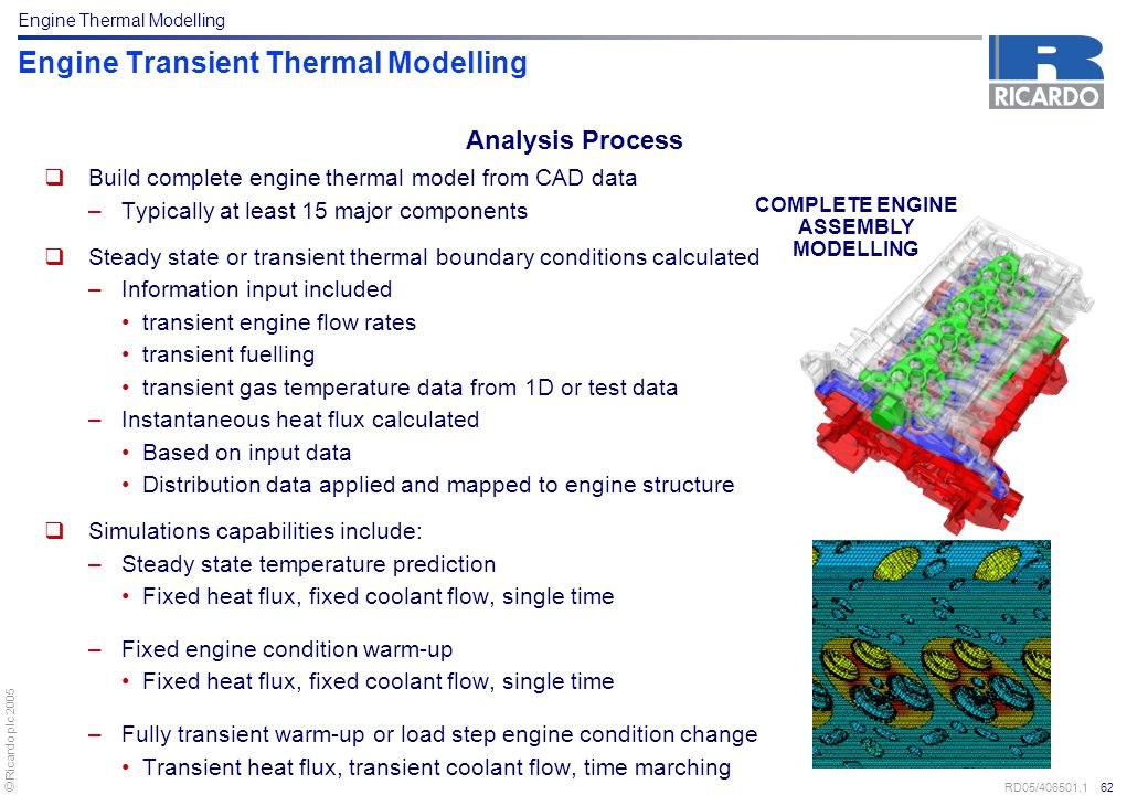 Engine Transient Thermal Modelling