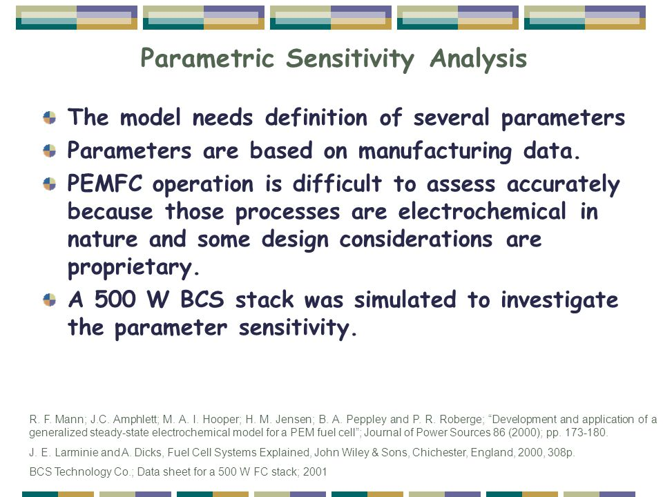 Parametric Sensitivity Analysis