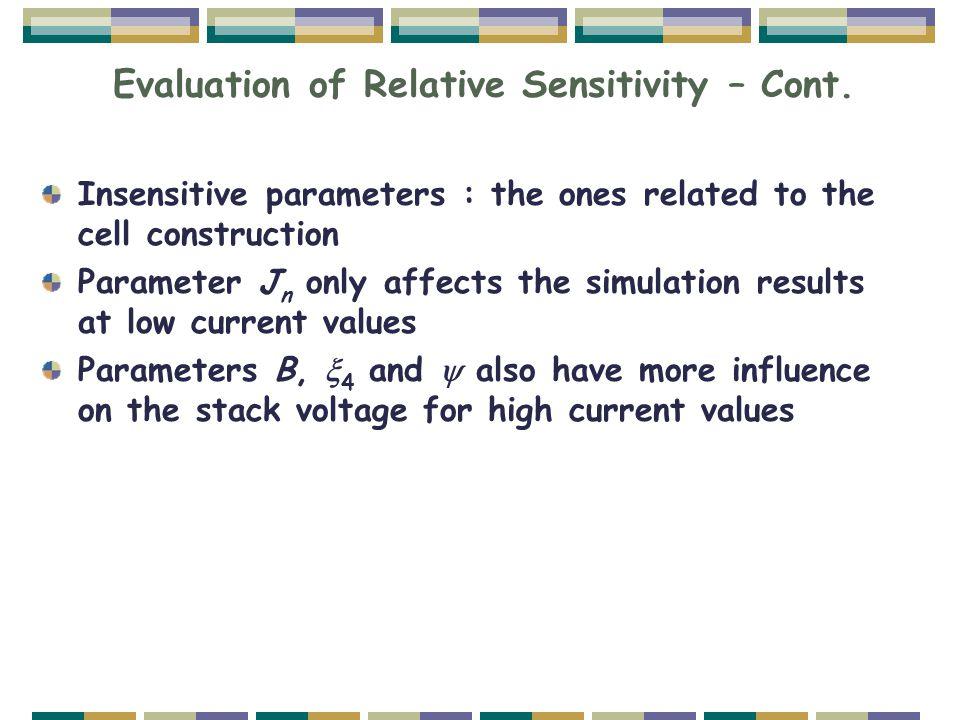 Evaluation of Relative Sensitivity – Cont.
