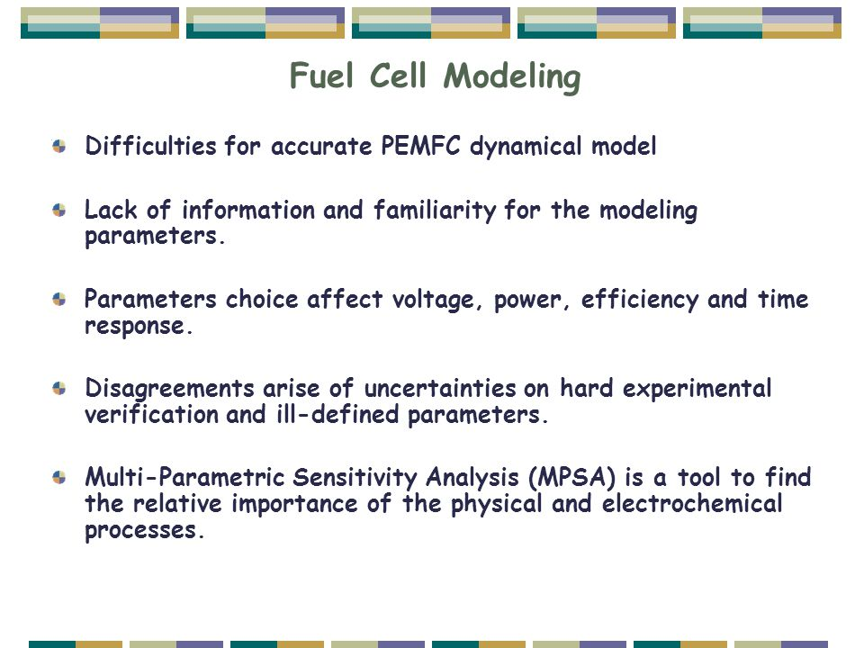 Fuel Cell Modeling Difficulties for accurate PEMFC dynamical model