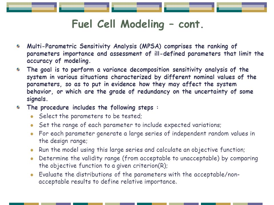 Fuel Cell Modeling – cont.
