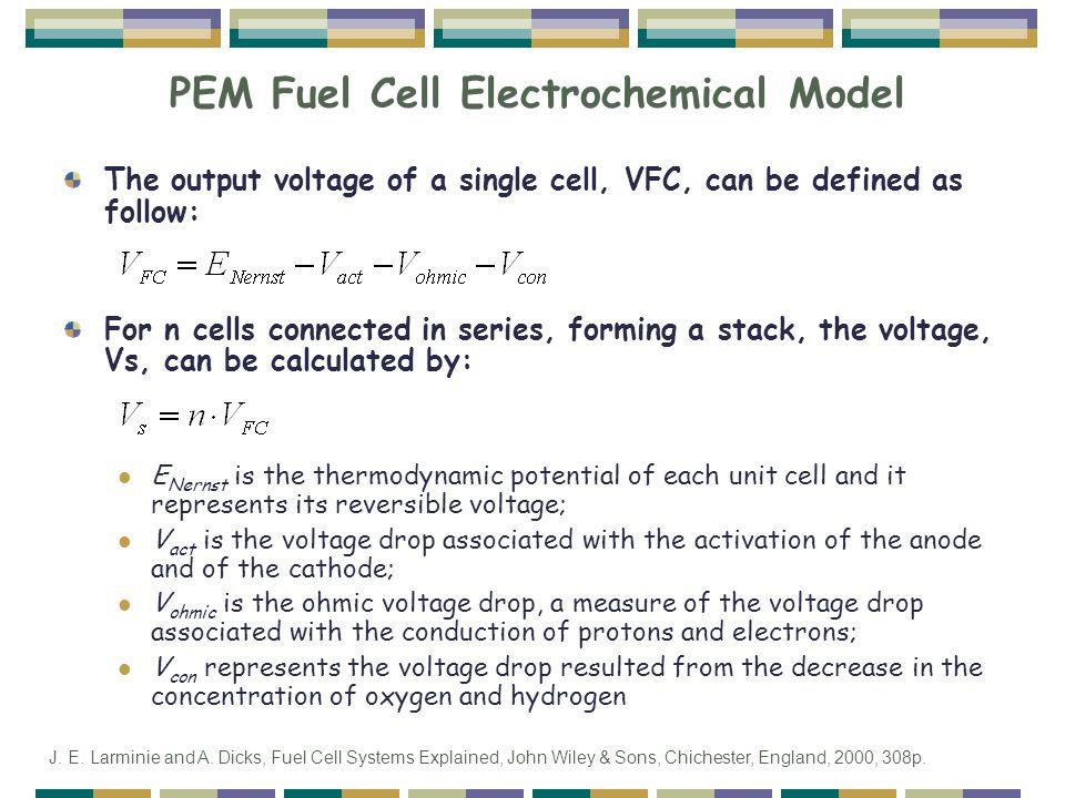 PEM Fuel Cell Electrochemical Model