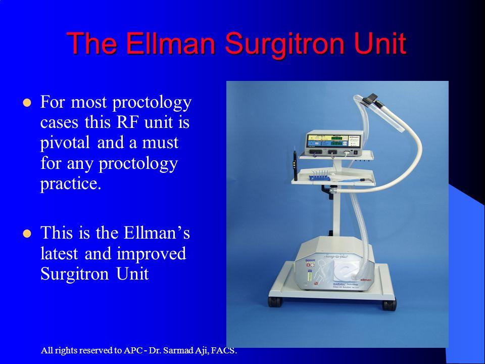 The Ellman Surgitron Unit